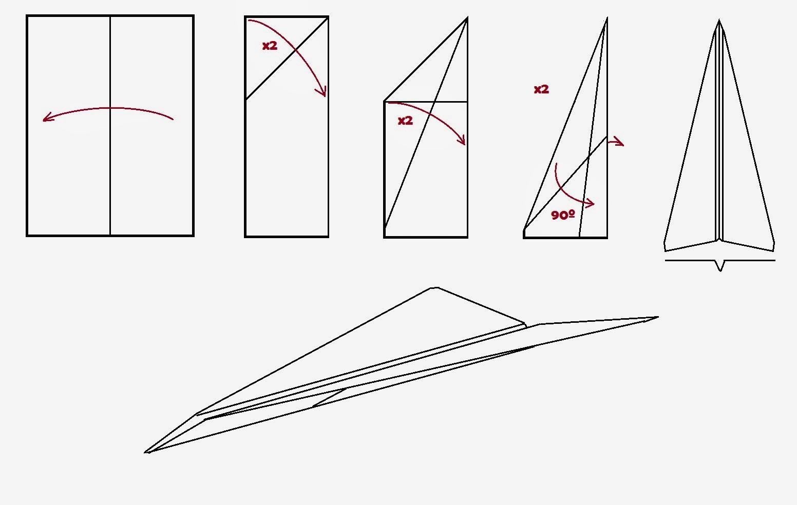 Avión de papel. Gilitadas