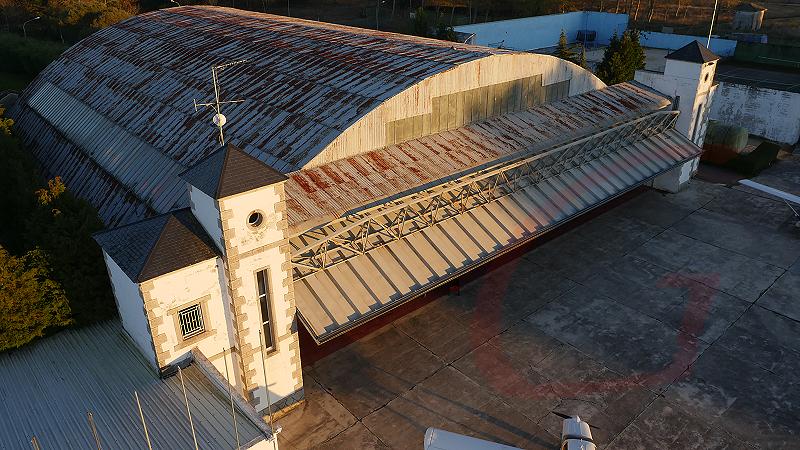 Hangar del aeródromo de Rozas. Gilitadas