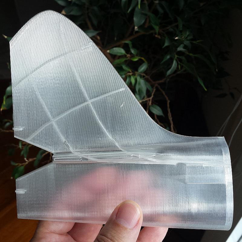 Sección de cola de avión. Impresión 3D. Gilitadas