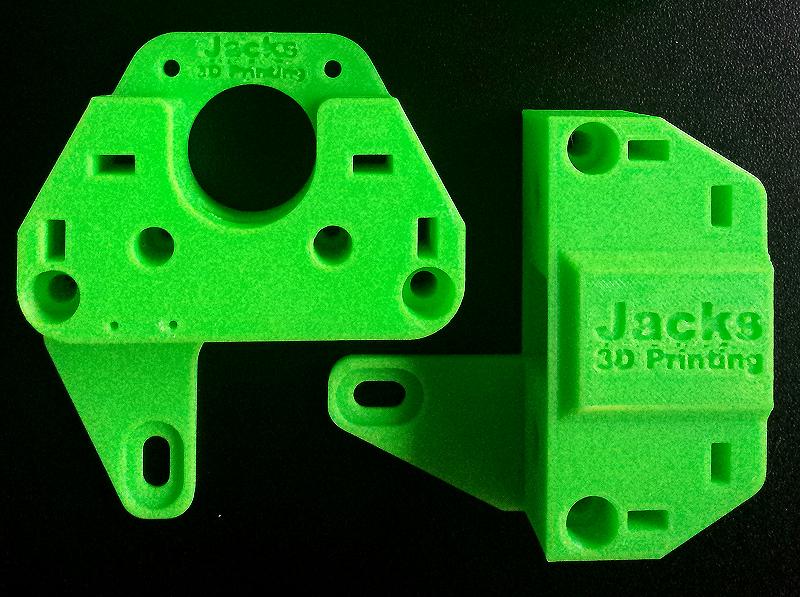 Piezas para impresora 3D realizadas en ABS. Gilitadas.