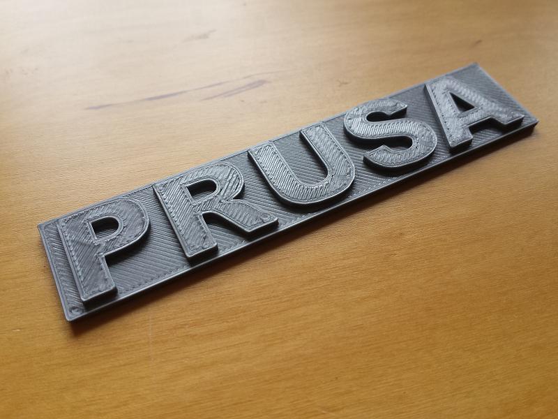 Impresión 3D. Logotipo Prusa. Gilitadas