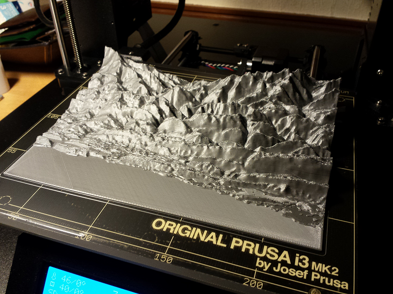Maqueta de terreno. Impresión 3D Gilitadas