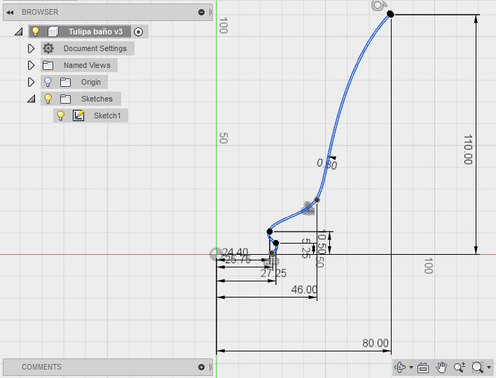 Diseño 3D. Tulipas para Lámpara. Gilitadas