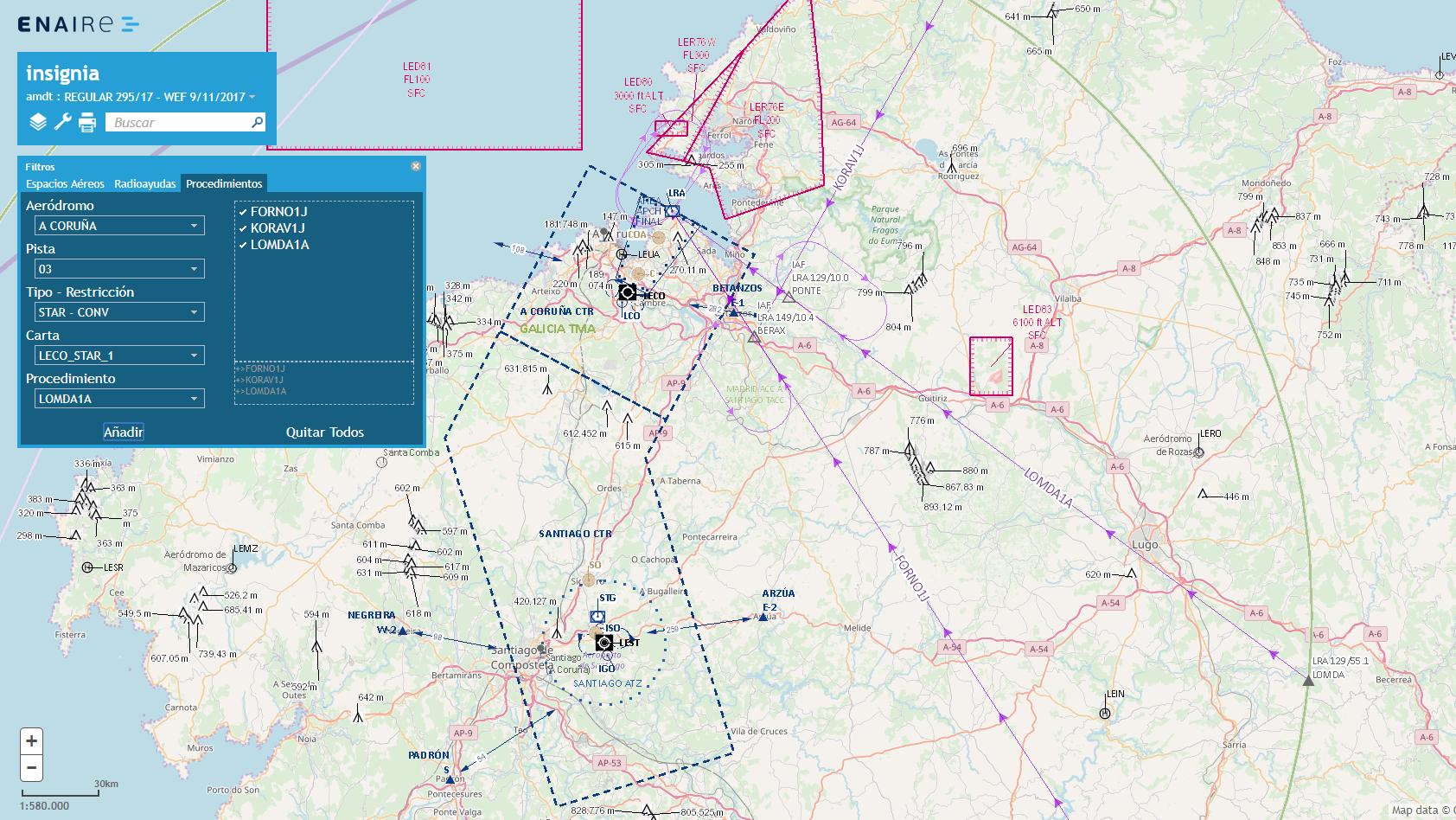 Insignia, GIS de información aeronáutica. Gilitadas