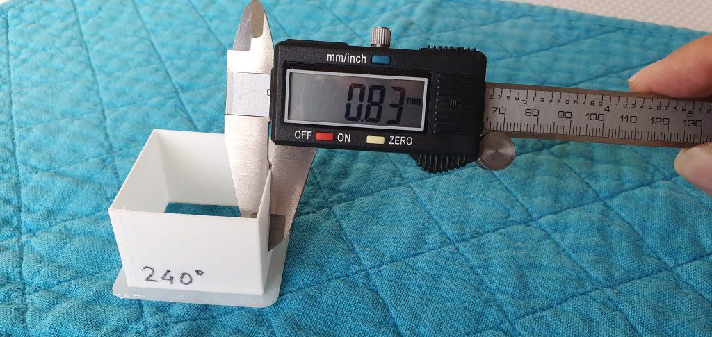 Test de temperatura de filamento LW-PLA de ColorFabb