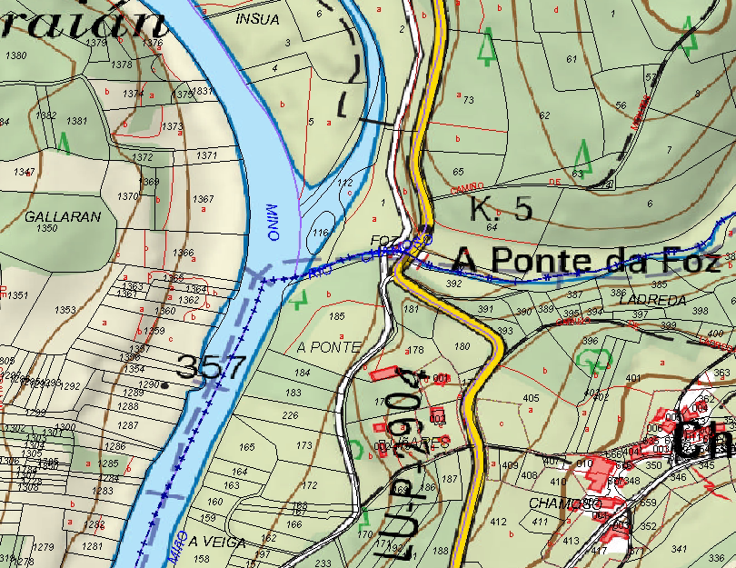 Cartografía catastral. Gilitadas